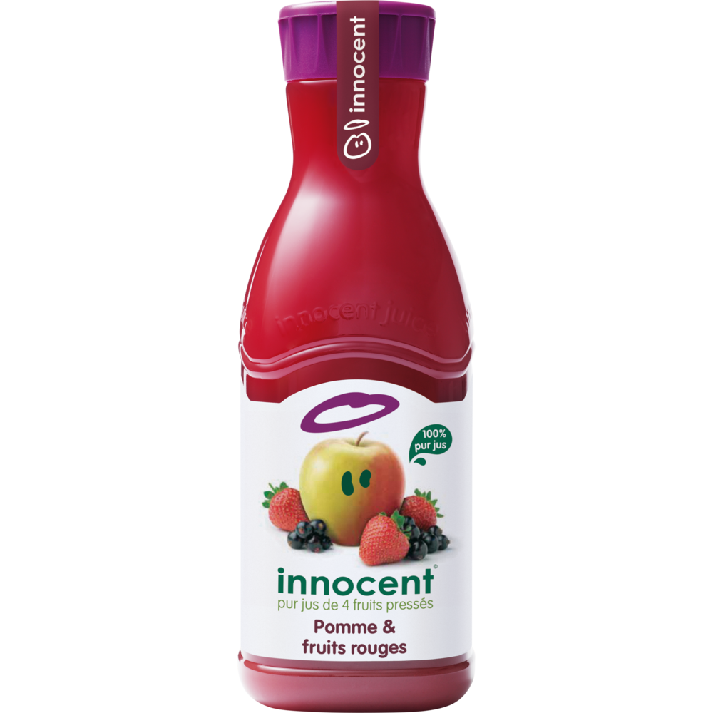 Jus de pommes et fruits rouges, Innocent (900 ml)