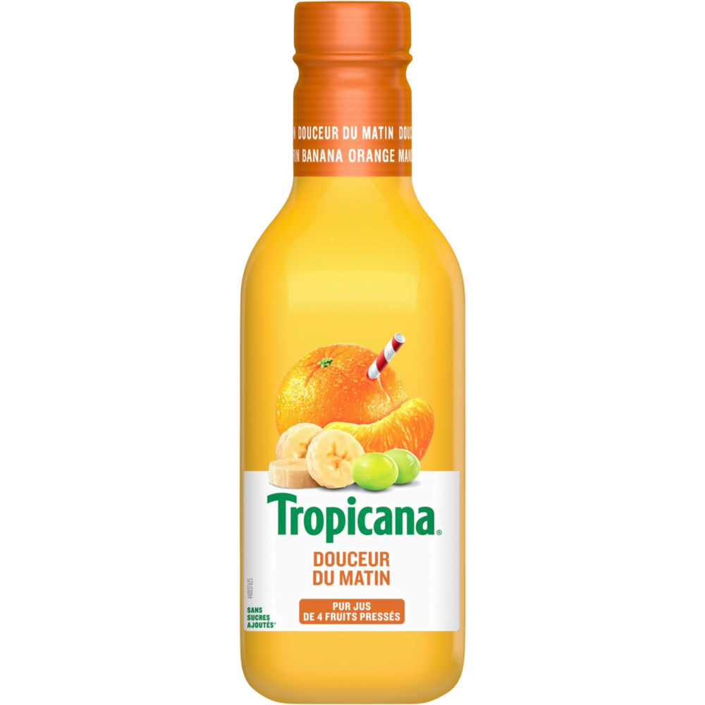 Jus d'orange mandarine et banane, Tropicana (90 cl)