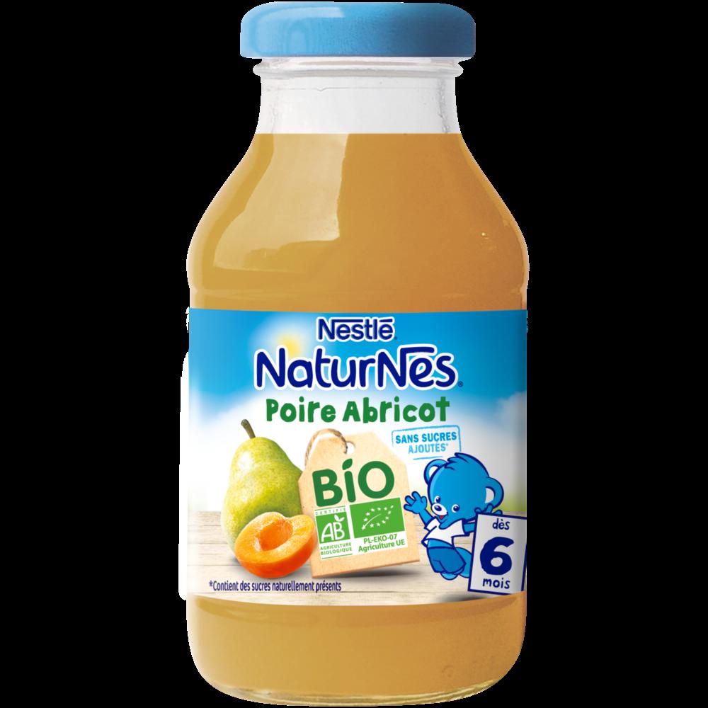 Jus poire abricot BIO - dès 6 mois, Naturnes Nestlé (200 ml)