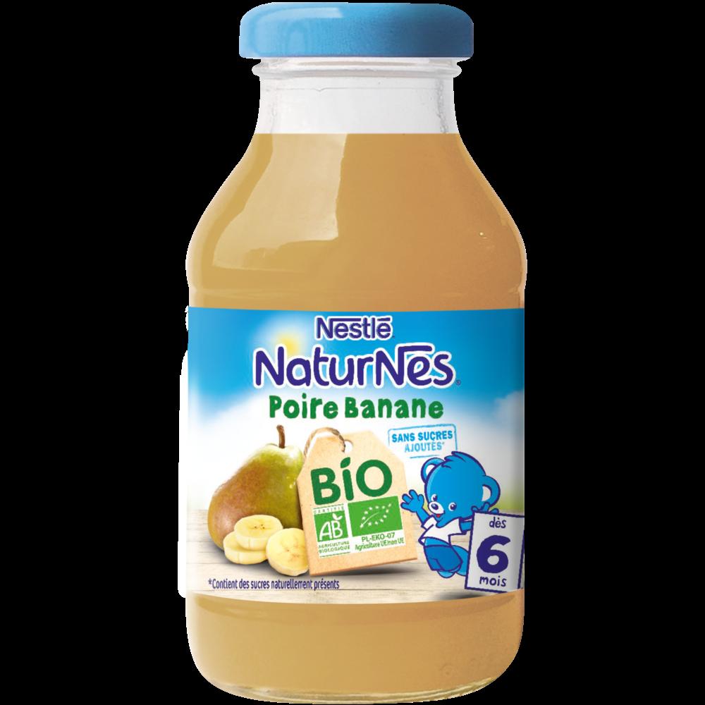 Jus poire banane BIO - dès 6 mois, Naturnes Nestlé (200 ml)