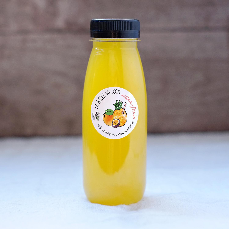 Jus frais ananas, mangue, passion (25 cl)