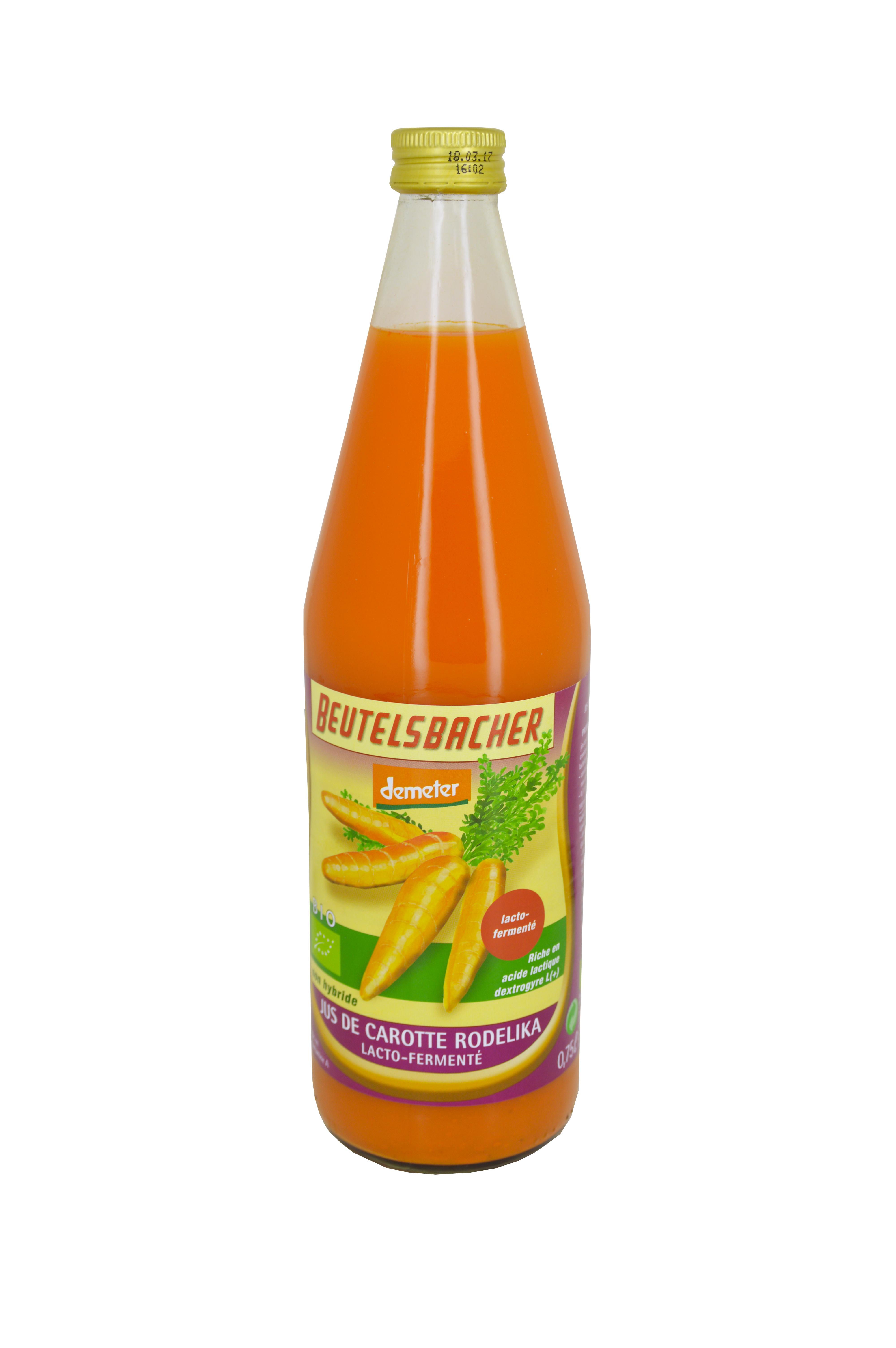 Jus de carotte Bio Rodel, Beutelsbacher (75 cl)