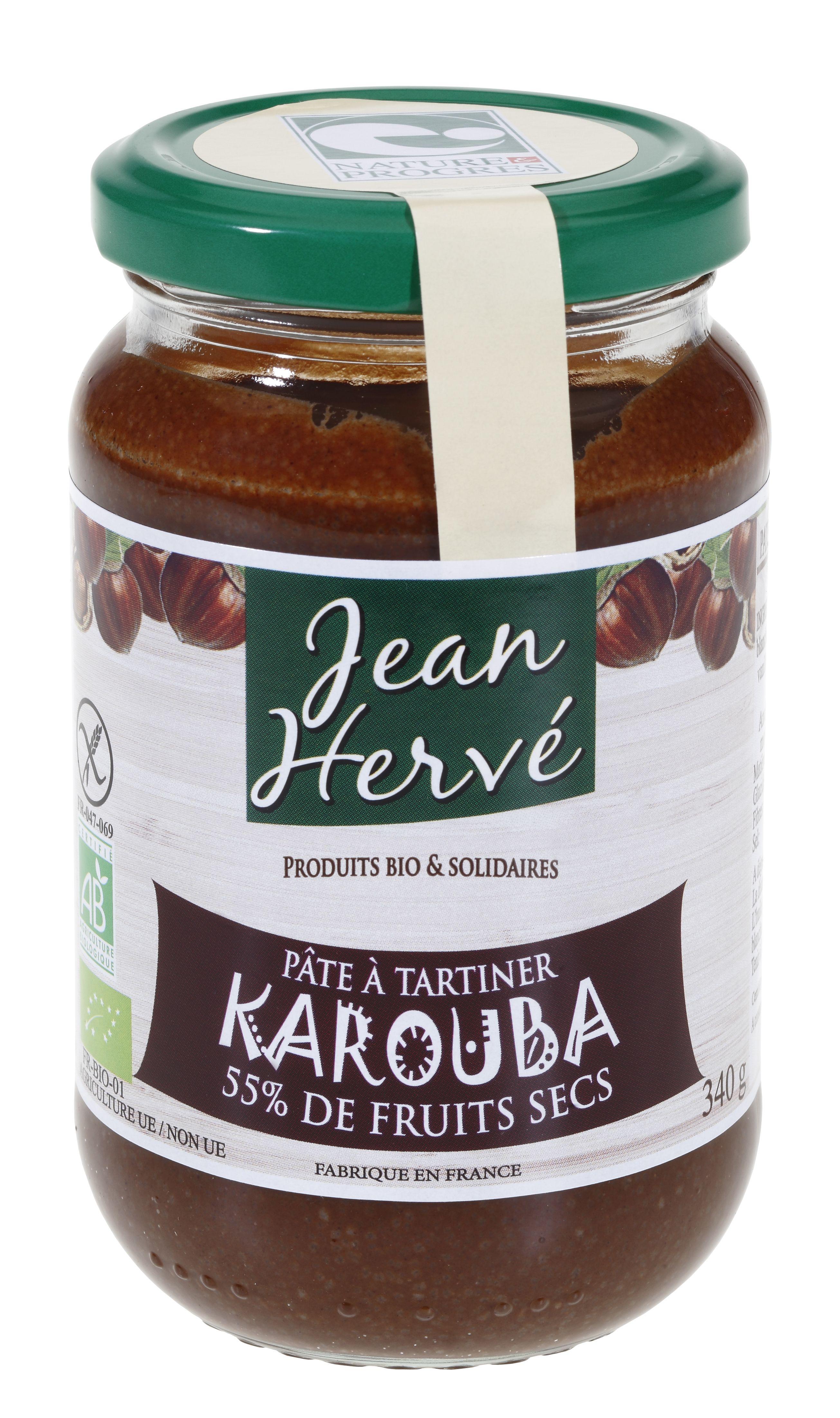 Pâte à tartiner Karouba BIO, Jean Hervé (340 g)