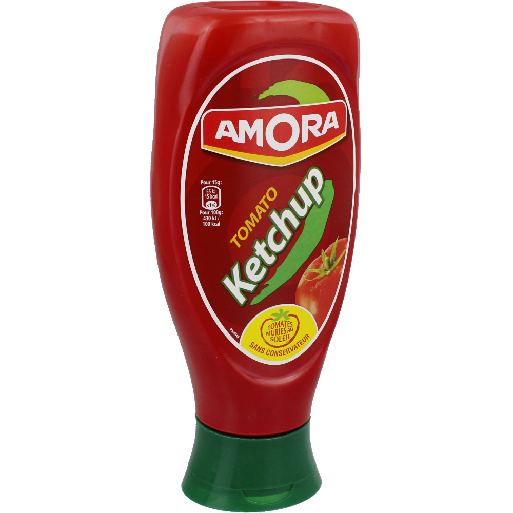 Ketchup top down en flacon, Amora (550 g)
