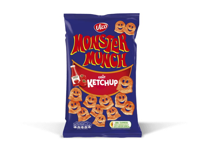 Monster Munch goût Ketchup, Vico (85 g)