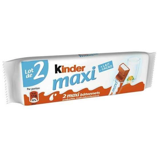 Kinder Maxi (x 2 bâtonnets, 42 g)