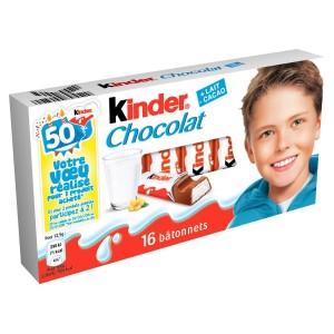 Bâtonnets chocolat Kinder (x 16, 200 g)