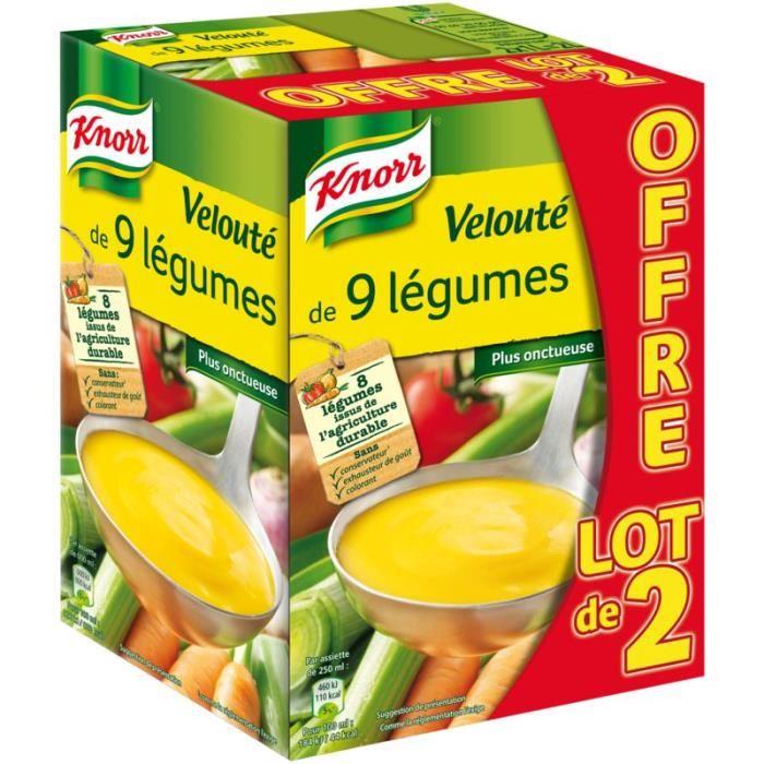Velouté de 9 légumes, Knorr LOT DE 2 (2 x 1 L)