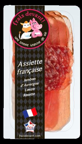 L'assiette française rosette/lonzo/jambon, Frais devant (80 g)