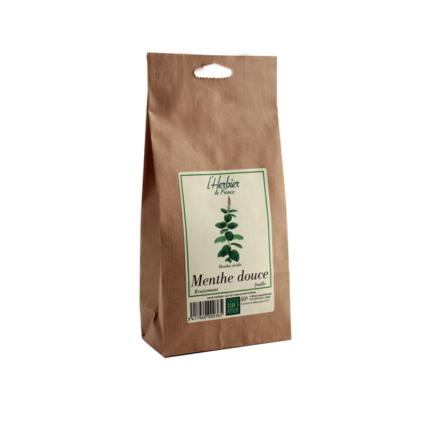 Menthe douce en feuilles BIO, Herbier de France (40 g)