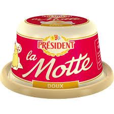 Beurre doux gastronomique la motte, Président (250 g)