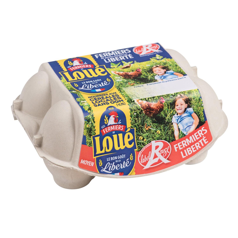 Oeuf plein air IGP Label Rouge Loué (x 6)
