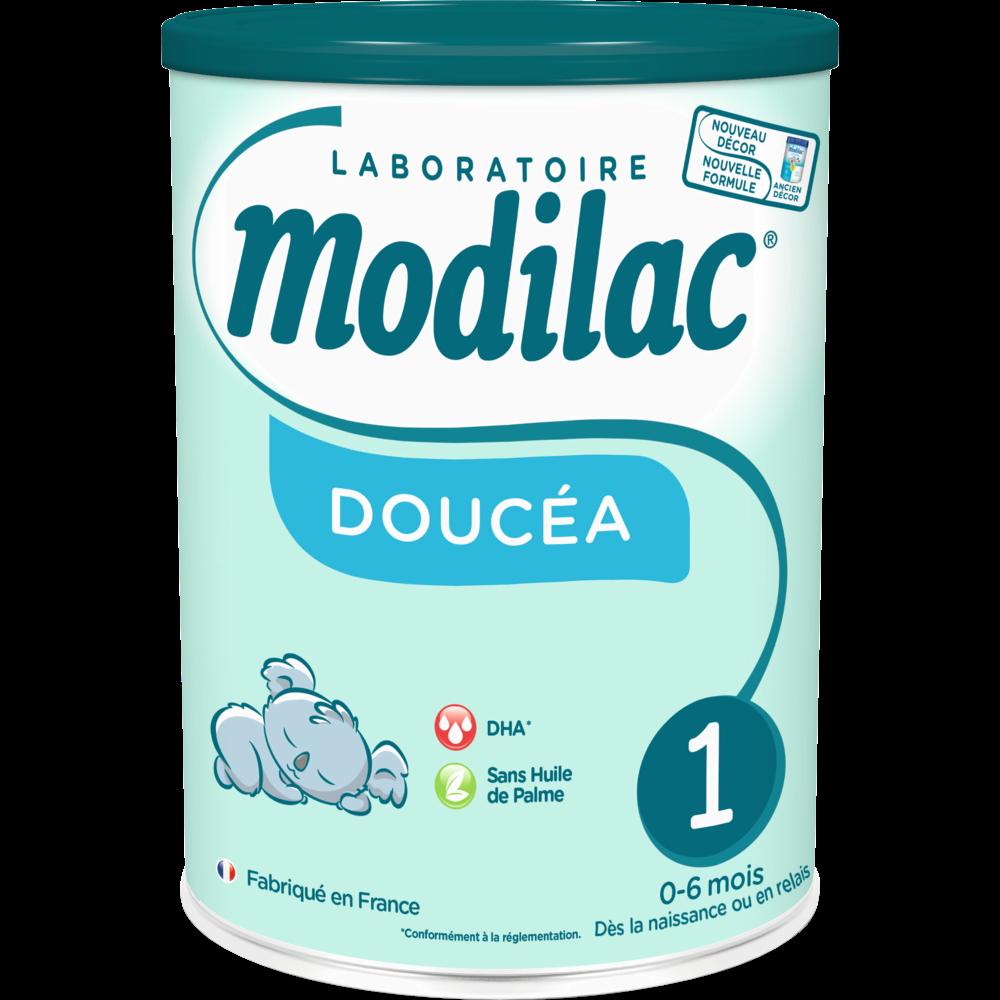 Lait en poudre 1er âge Doucea sans huile de palme - de 0 à 6 mois,  Modilac (820 g)