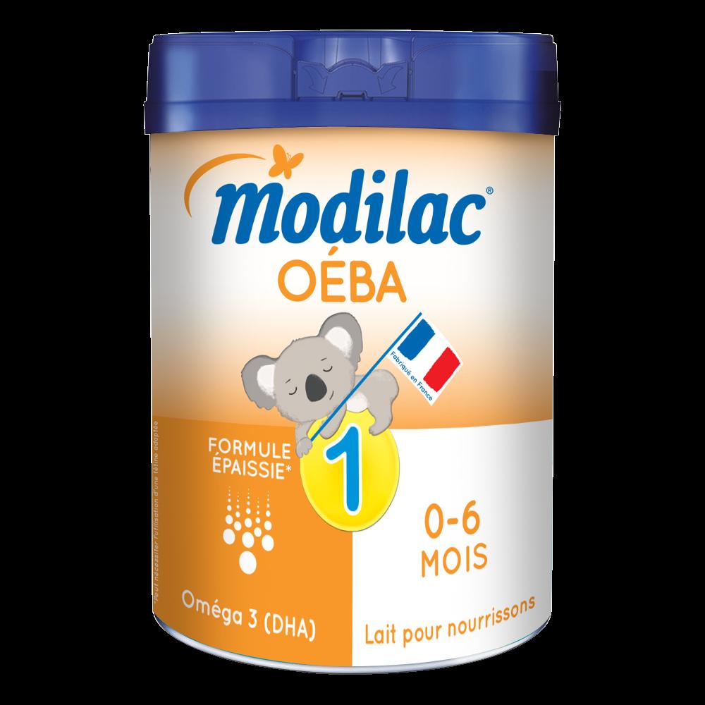 Lait en poudre 1er âge Oéba - de 0 à 6 mois, Modilac (800 g)