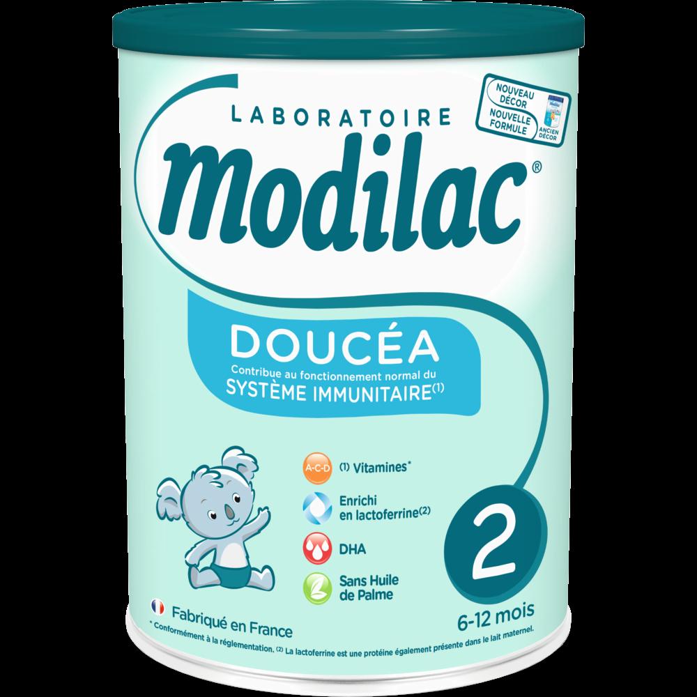 Lait en poudre Doucea 2ème âge sans huile de palme, Modilac (820 g)