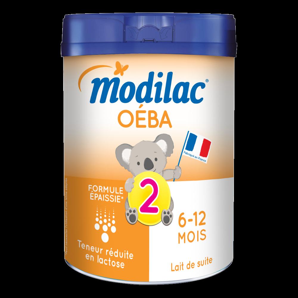 Lait en poudre 2ème âge Oéba - de 6 à 12 mois, Modilac (800 g)