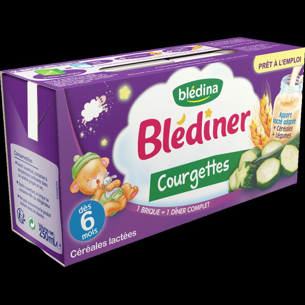 Blédiner aux courgettes - dès 6 mois, Blédina (2 x 250 ml)
