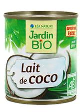 Lait de coco BIO, Jardin Bio (225 ml)