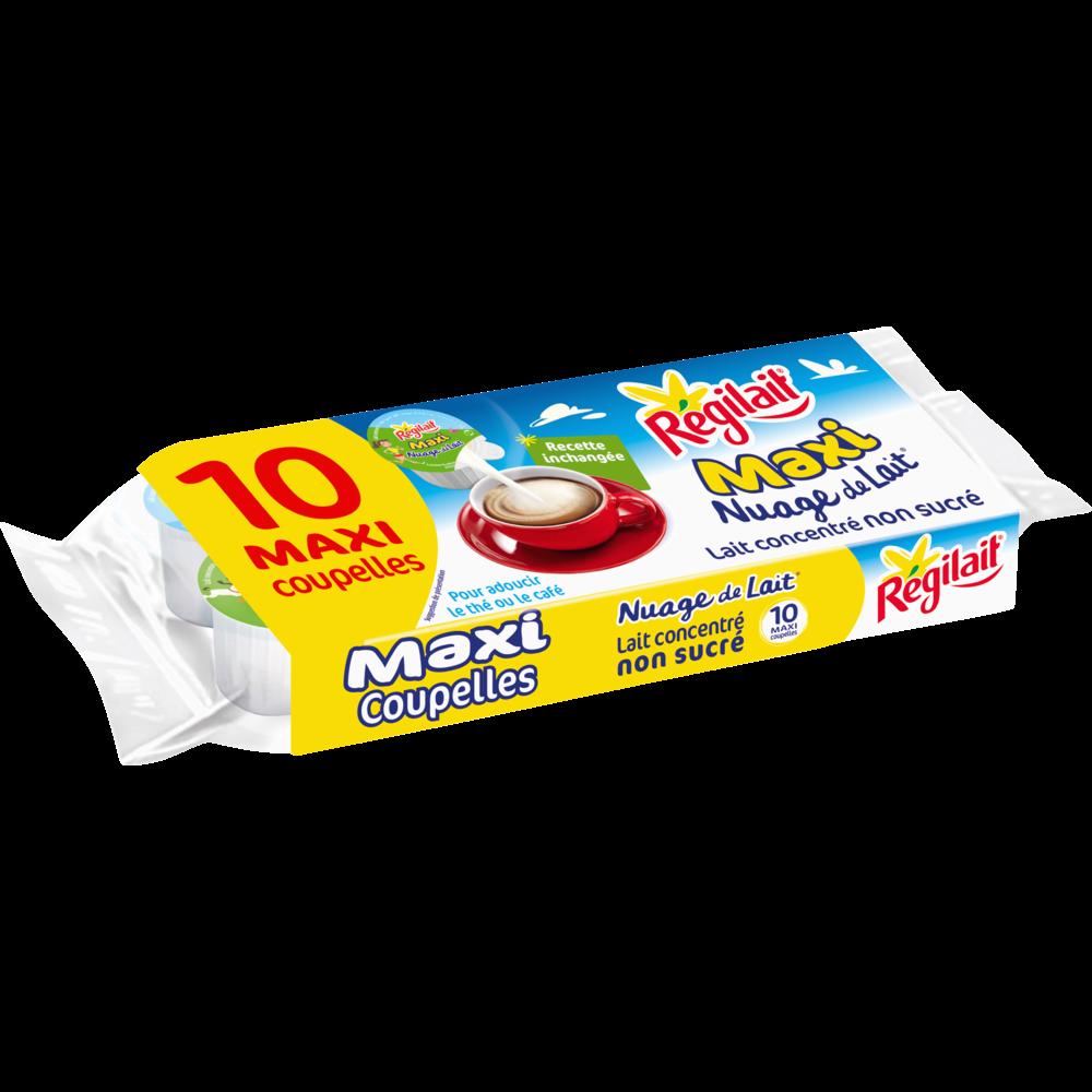 Nuage de lait concentré non sucré en maxi coupelles, Regilait (x 10, 14 g)