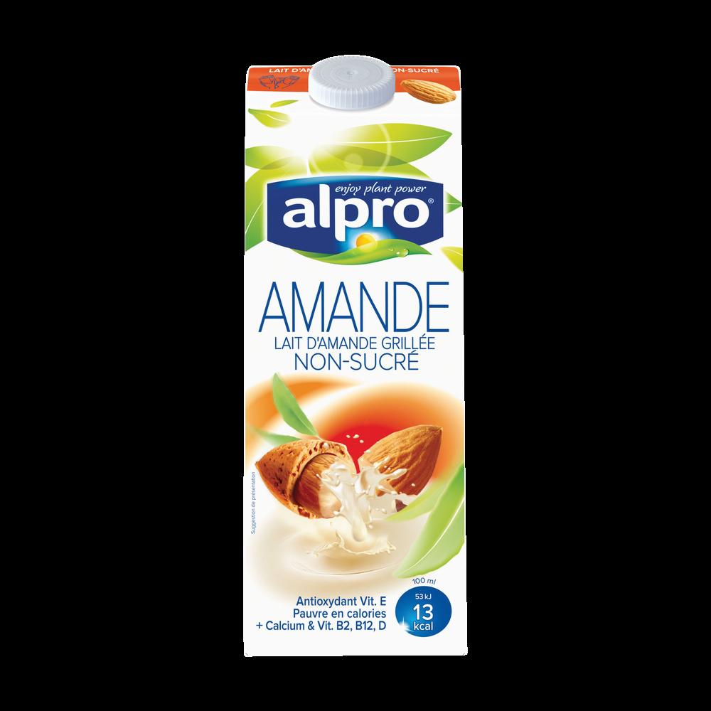 Lait d'amande non sucré avec calcium et vitamines ajoutés, Alpro (1 L)
