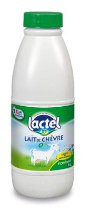 Lait de chèvre écrémé stérilisé UHT, Lactel (1 L)