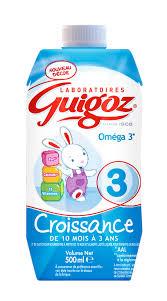 Lait de Croissance 3 - de 10 mois à 3 ans, Guigoz (1 L)