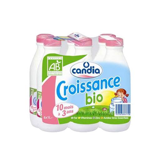 Pack de lait croissance BIO Candia (6 x 1 L)