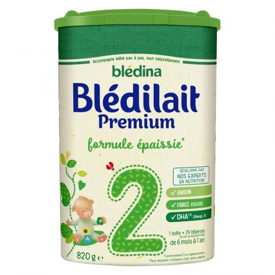 Lait en poudre Blédilait 2ème âge premium formule épaissie - de 6 à 12 mois, Blédina (820 g)