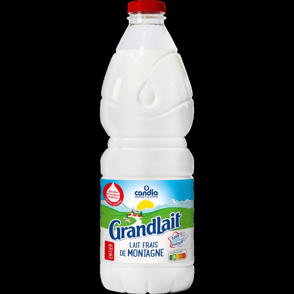 Lait frais pasteurisé entier montagne, Grandlait (2 L)