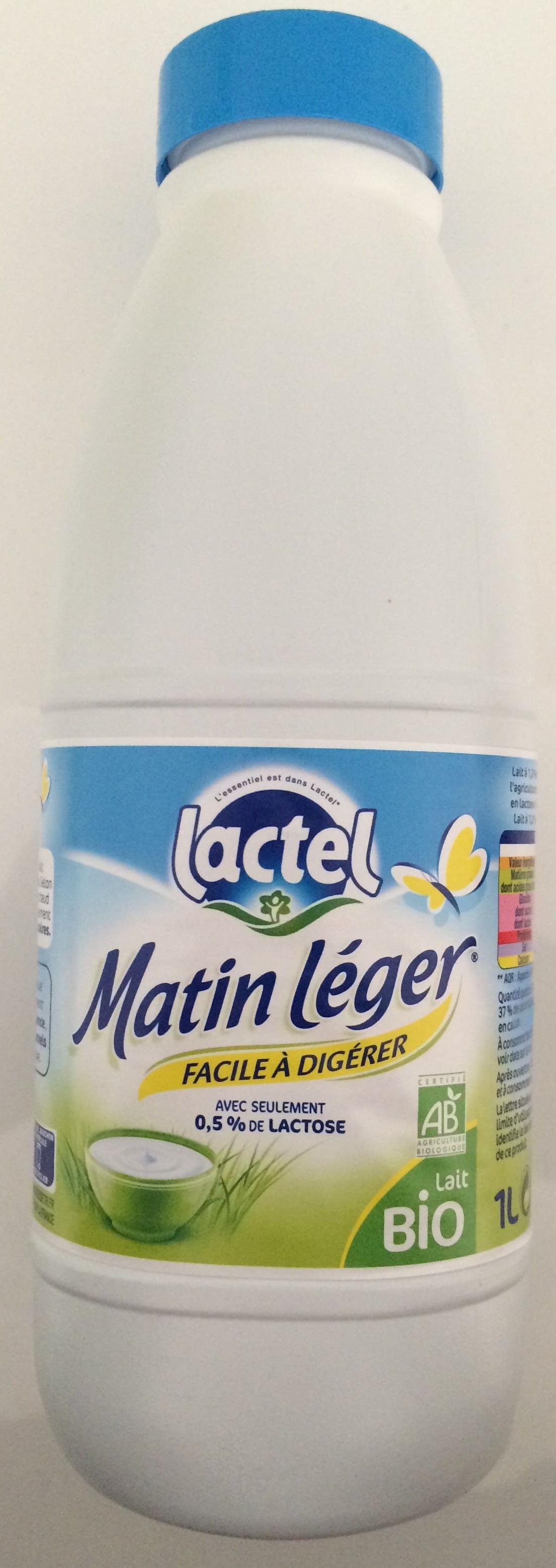 Lait Matin Léger BIO 1,2% MG, Lactel (50 cl)