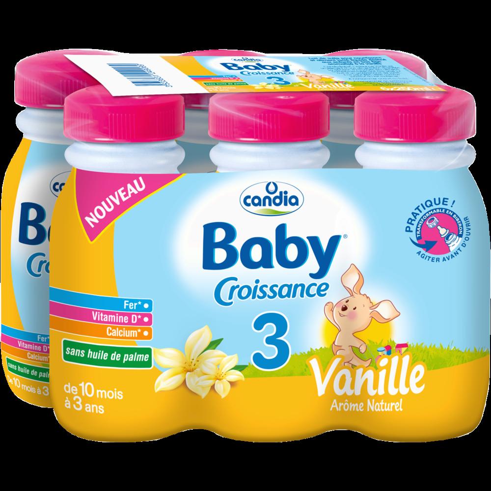 Lait pour bébé à la vanille 3 - dès 10 mois, Candia baby (25 cl)