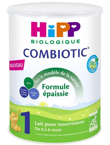 Lait pour nourrissons combiotic 1 BIO - de 0 à 6 mois, Hipp (800 g)