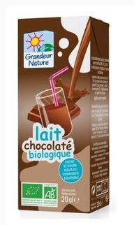 Lait UHT chocolaté BIO en briquette, Grandeur Nature (20 cl)