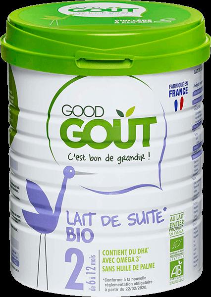 Lait infantile 2ème âge BIO – de 6 à 12 mois, Good Goût (800 g)