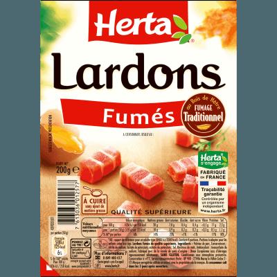 Lardons fumés en barquette, Herta (200 g)