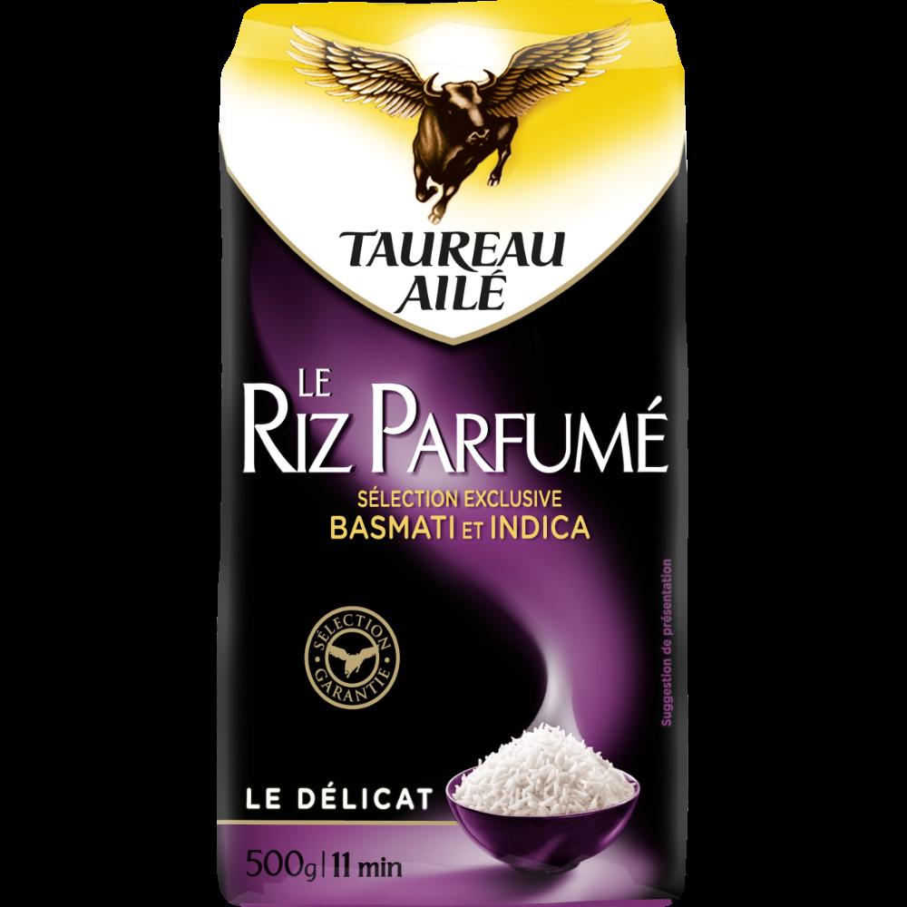 Riz parfumé le délicat basmati et indica 11 min, Taureau Ailé (500 g)
