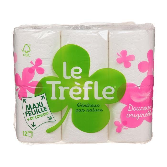 Papier toilette douceur, Le Trèfle (x 6)