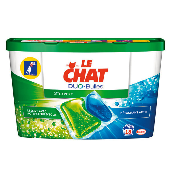 Lessive l'expert duo caps, Le Chat (x 18)