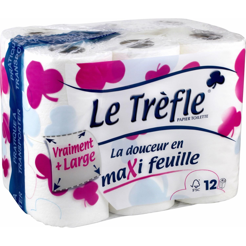 Papier toilette maxi feuille, Le Trèfle (x 8)