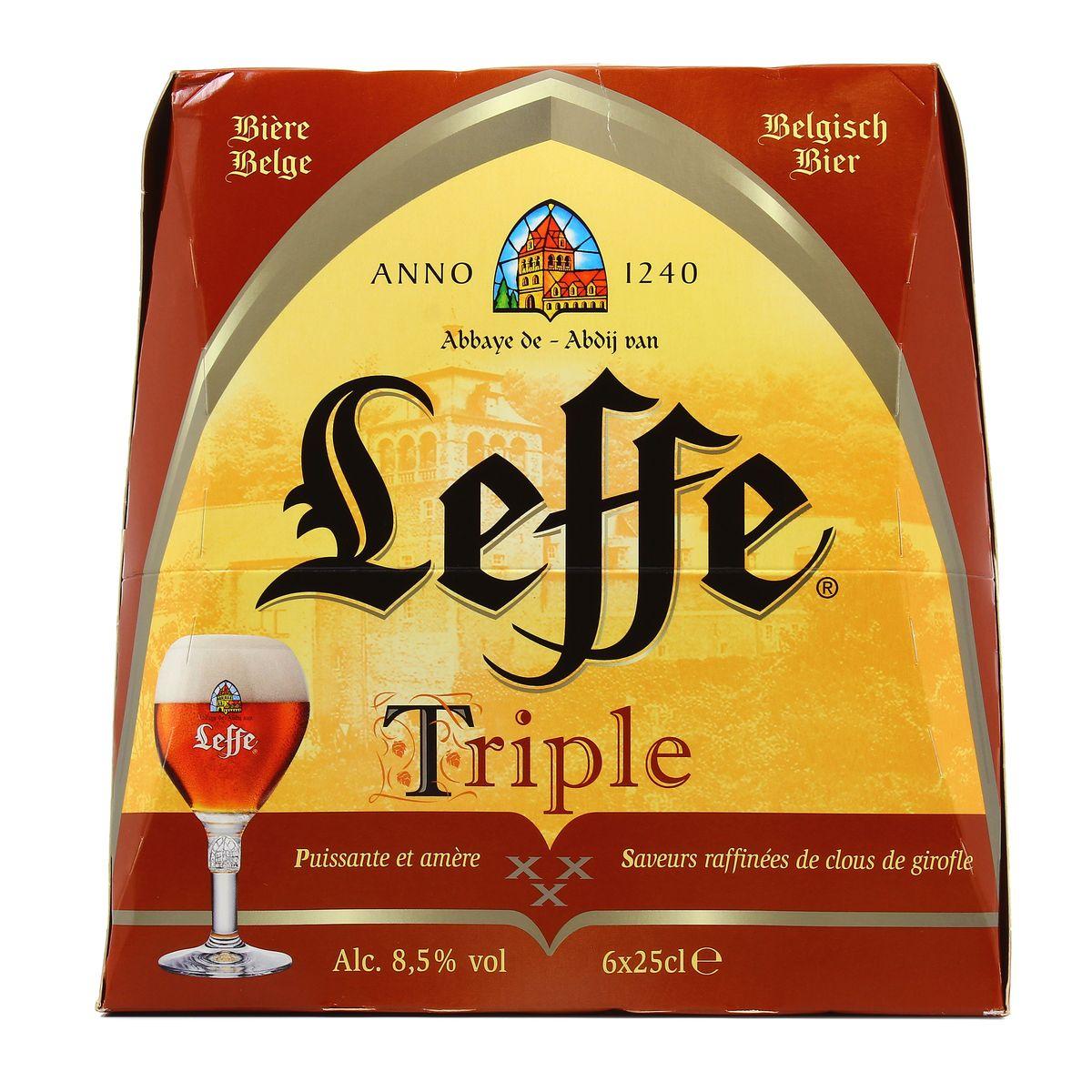 Pack de Leffe Triple 8°5 Biere D'abbaye (6 x 25 cl)
