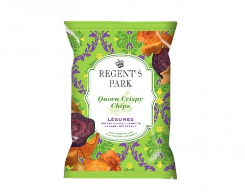 Chips de légumes Queen Crispy, Regent's Park (40 g)