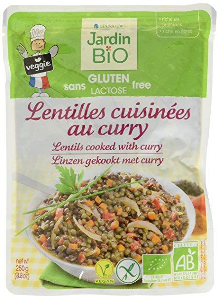 Lentilles cuisinées au curry sans gluten BIO, Jardin BIO (250 g)