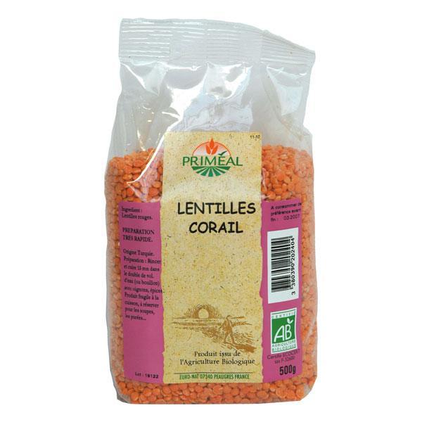 Lentilles corail BIO, Priméal (500 g)