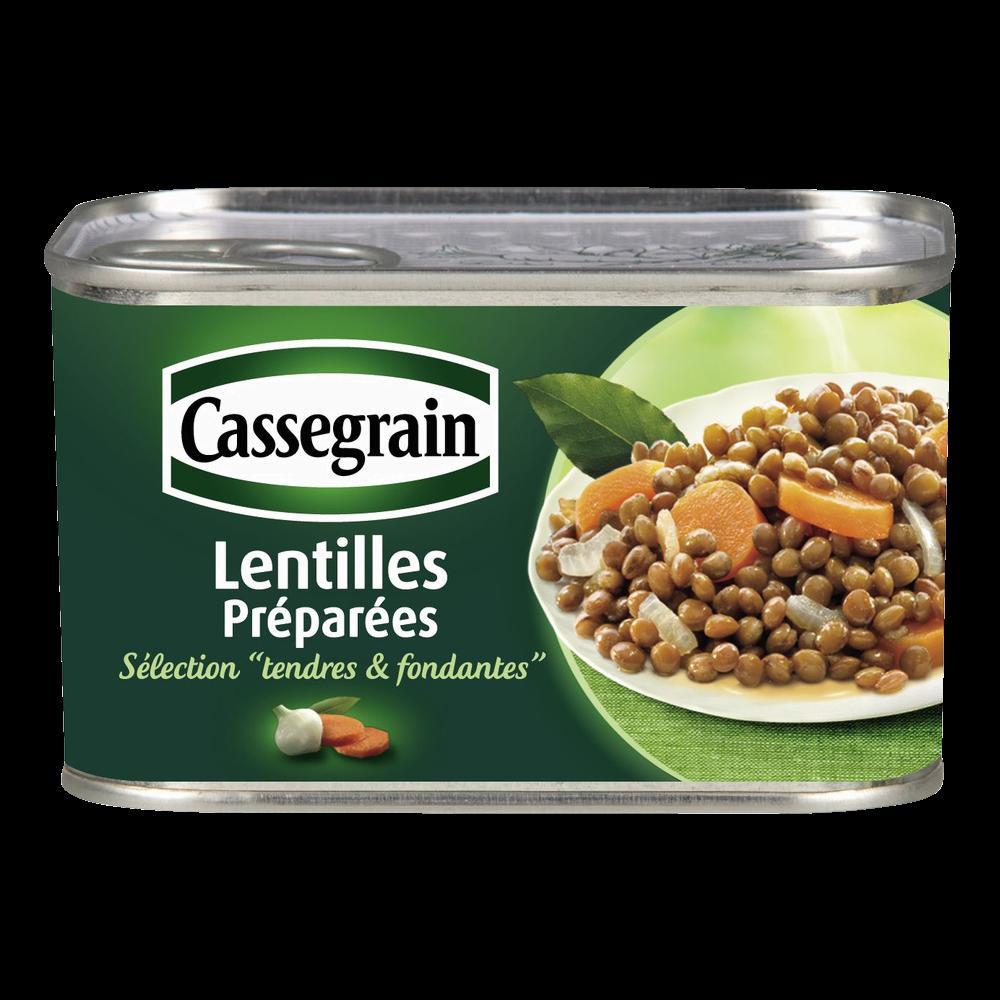 Lentilles cuisinées aux oignons et carottes, Cassegrain (225 g)