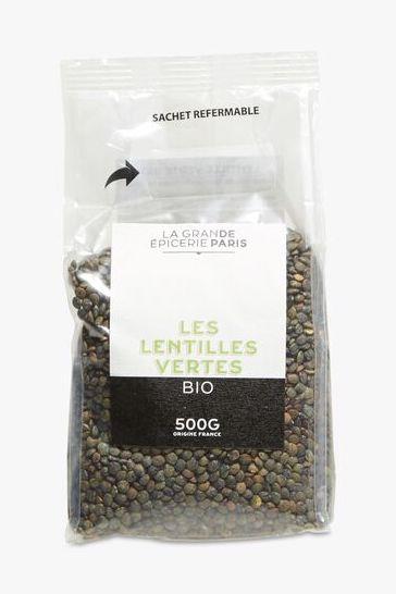 Lentilles vertes BIO, La Grande Epicerie de Paris (500 g)