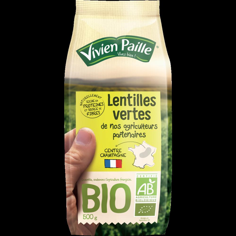 Lentilles vertes BIO, Vivien Paille (500 g)