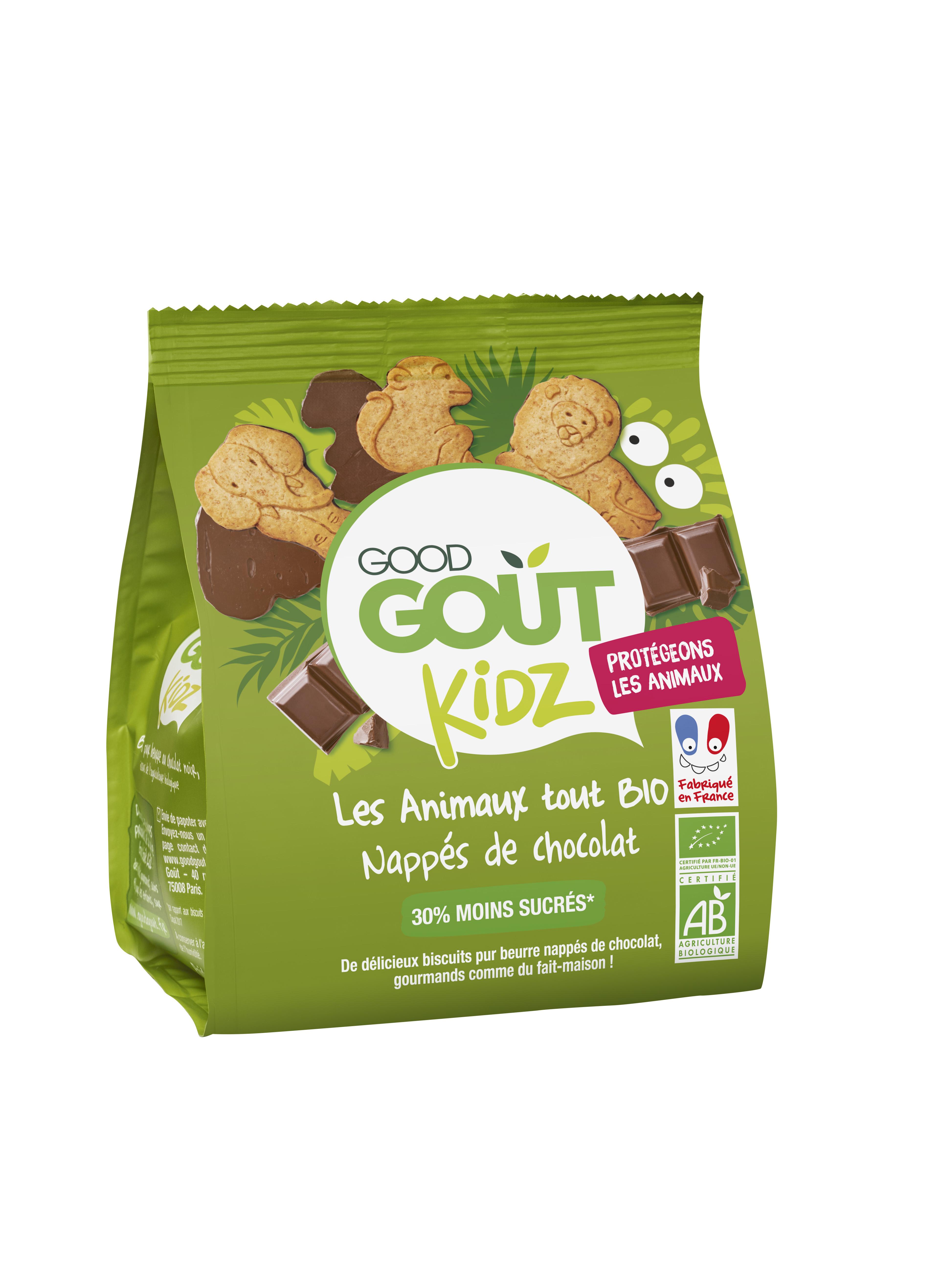 Les animaux nappés de chocolat BIO - dès 3 ans, Good Goût Kid'z (120 g)