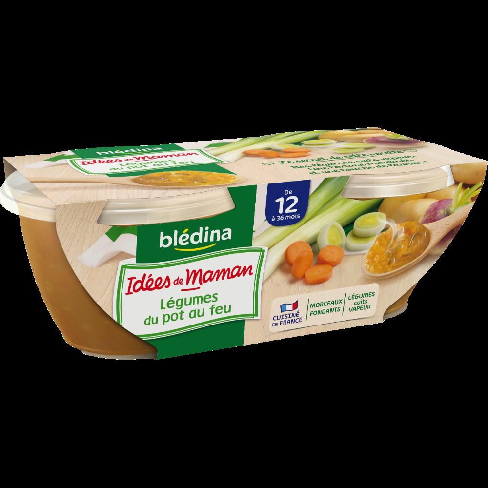 Bols légumes du pot au feu Idées de Maman - dès 12 mois, Blédina (2 x 200 g)