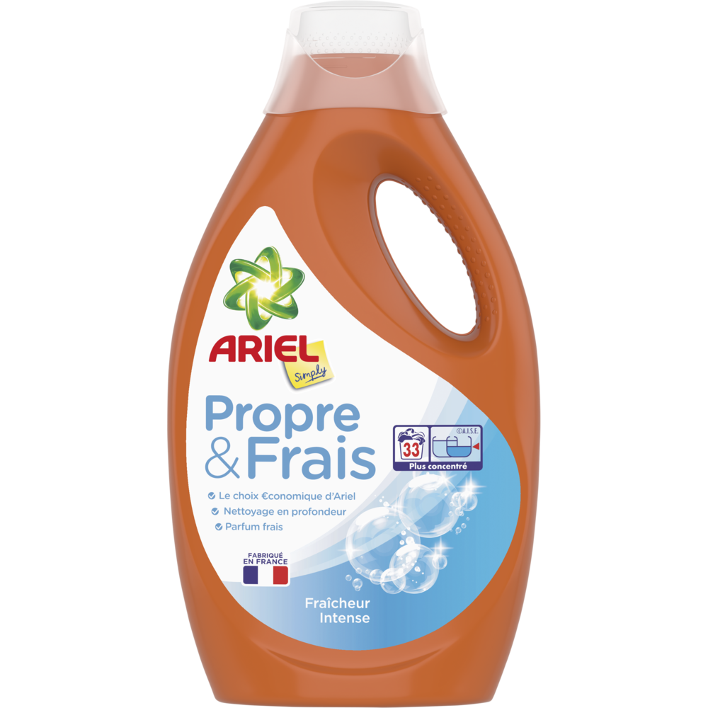 Lessive liquide simply intense, Ariel (1,815 L = 33 doses)