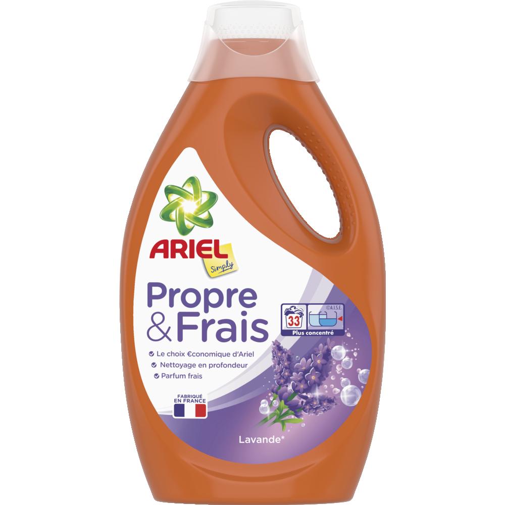 Lessive liquide simply lavande, Ariel (1.815 L = 33 doses)